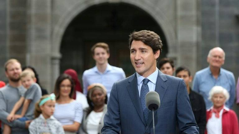 Trudeau opens bruising Canada election campaign