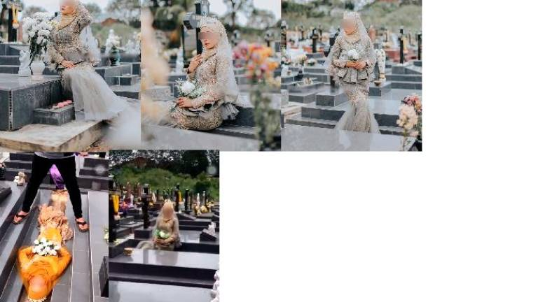 Bridal photoshoot in cemetery met with outrage