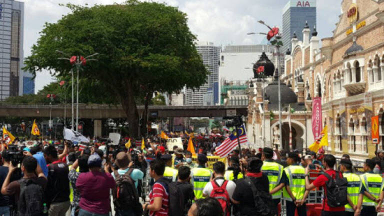Protesters on the streets again for Anti-GST rally