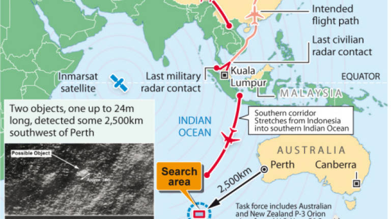 Flight MH370 ended in southern Indian Ocean: Najib (Updated)