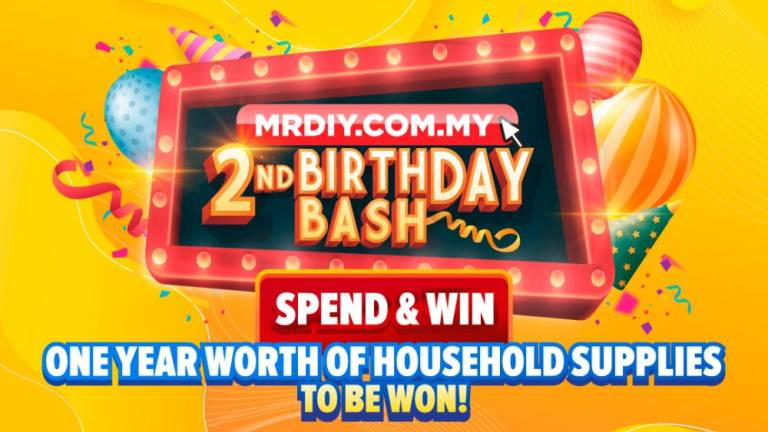 Win 1-year worth of household supplies during MR DIY Online's 2nd Birthday Bash
