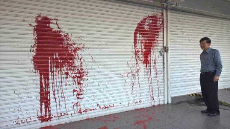 Penang DAP HQ splashed with red paint