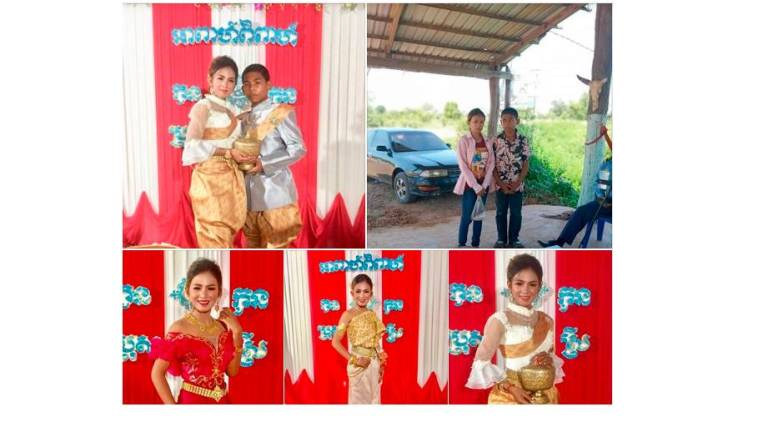 Woman, 21, gets married to 14-year old boy in Cambodia