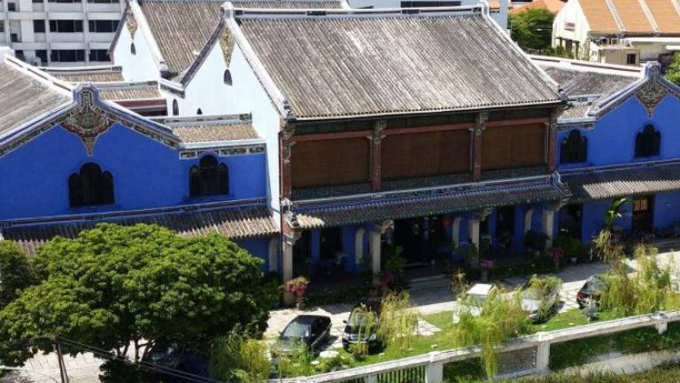 George Town's Blue Mansion.