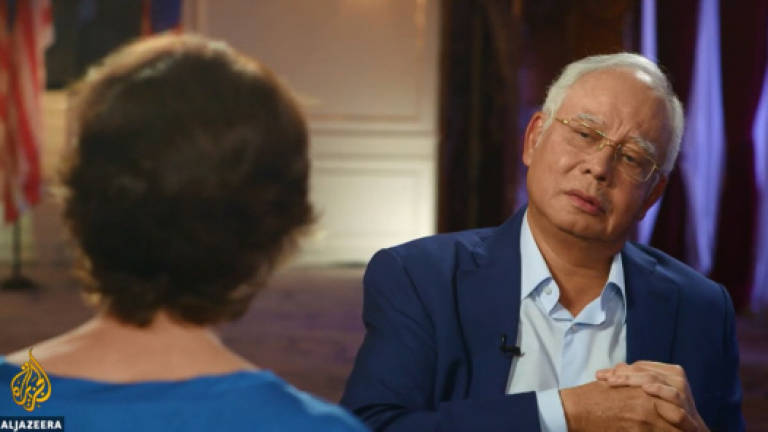 Image result for najib with Al-Jazeera's reporter Mary Ann Jolley