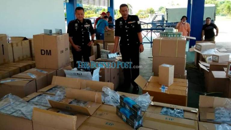 GOF seizes illicit cigarettes worth over RM1m in Kuching