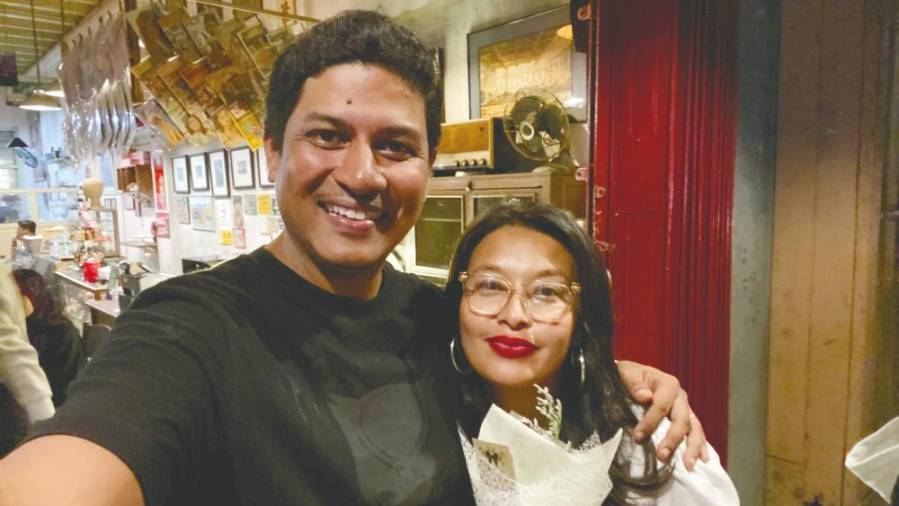 Shamyl with his leading lady Nabila Huda, who plays Ramlah in the remake of 'Rahsia'. – Courtesy of Shamyl Othman