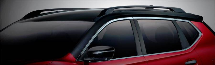X-Trail X-Tremer new black silhouette roof and roof rails.