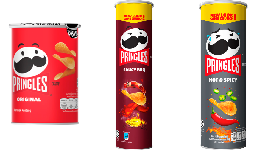 Pringles On-The-Go Pack 36g and Sharing Packs 147g and 104g