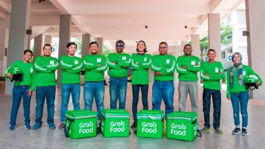 GrabFood delivery partners.