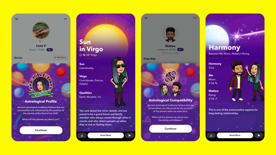 Go beyond the daily horoscope with Snapchat's new Astrological features