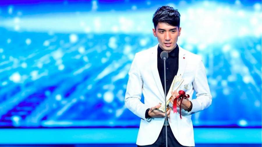 Yuan with his award at the 22nd Shanghai International Film Festival. – PICTURE COURTESY OF YUAN TENG