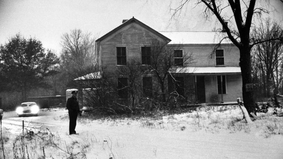 The Gein farmhouse which was to become the scene of nightmares