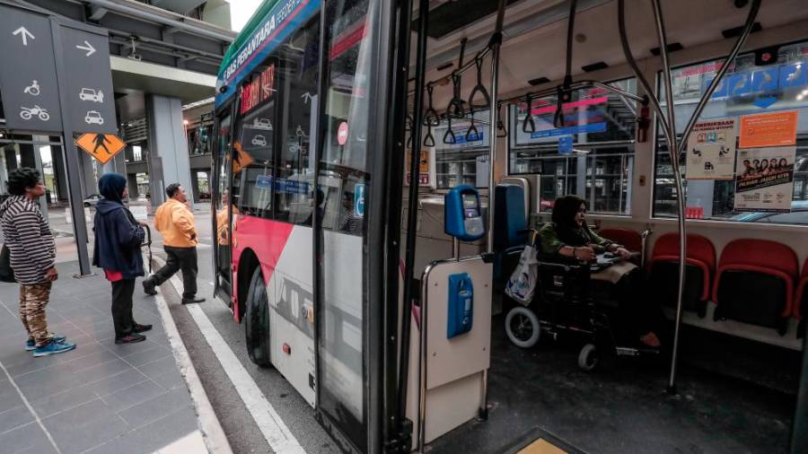 Busses with ramps enables those who are wheelchair-bound like Nur Fazira to be mobile.