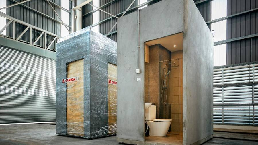 The Banting factory has a dedicated wing that builds a variety of bathroom pods and has the capacity to produce 16,000 bathroom pods yearly.