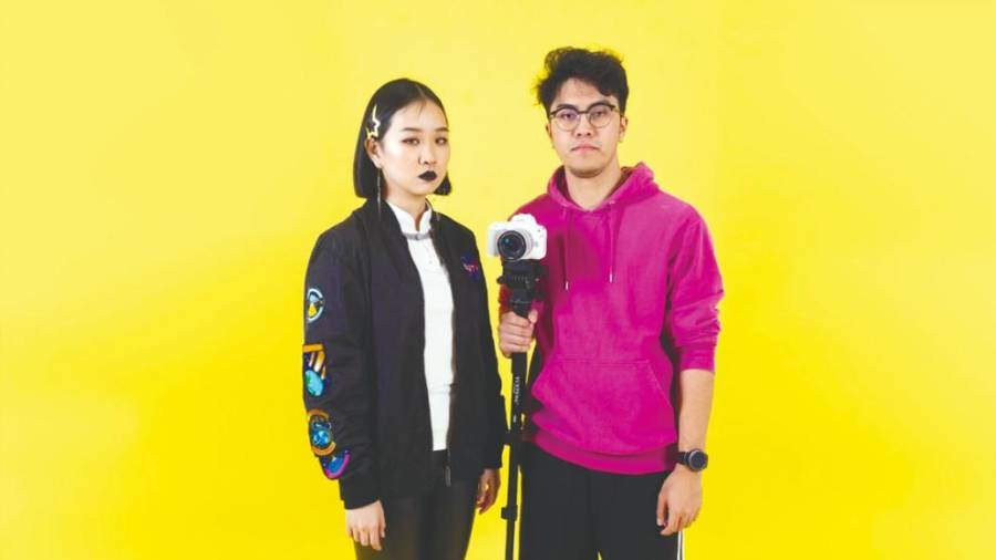 Co-hosts of Just Add Joy Abigail Goh (left) and Nabil.