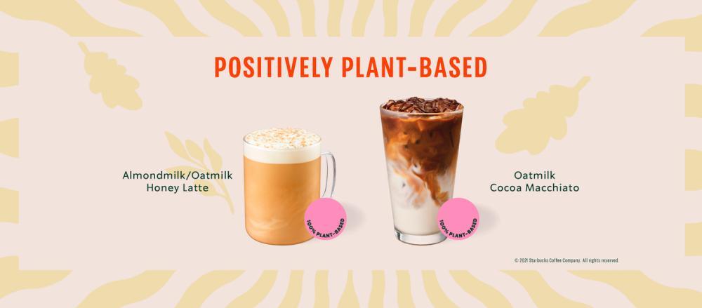 Starbucks unveils its new plant-based menu