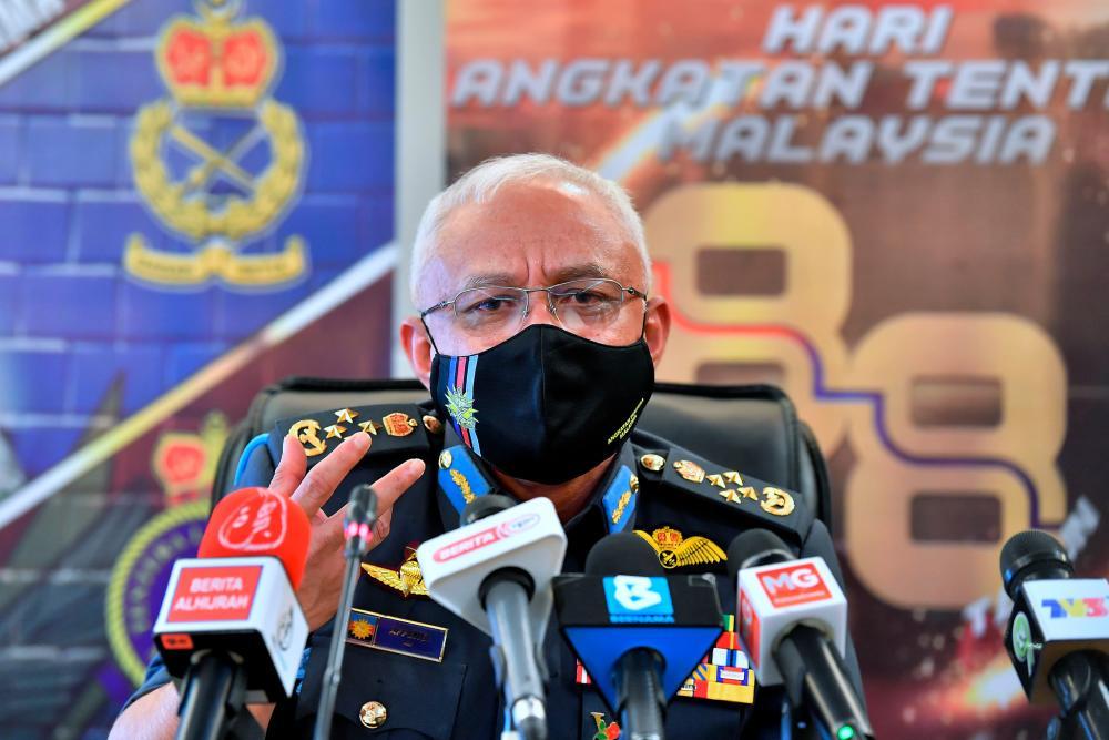 Chief of Defence Forces Gen Tan Sri Affendi Buang. BERNAMApix