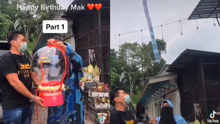 A mother's viral birthday surprise amused many netizens