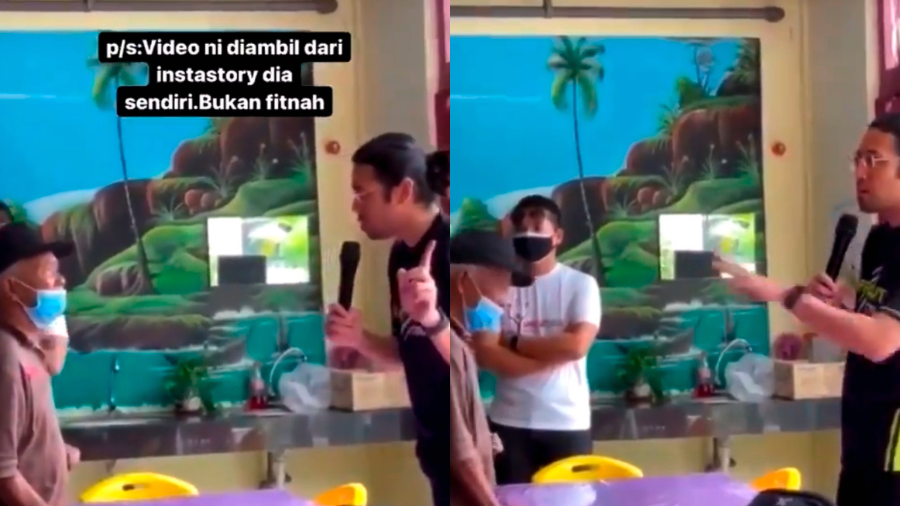 Carl Samsudin shames a homeless man for 'being lazy' when he was younger