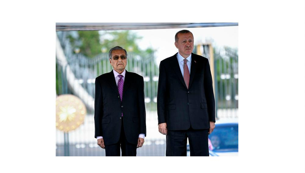 Prime Minister Tun Dr Mahathir Mohamad and Turkey President Recep Tayyip Erdogan, in Ankara, on July 26, 2019. — Bernama