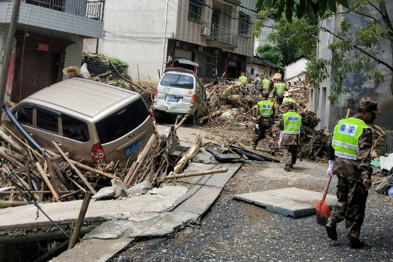 Typhoon Lekima hit the Chinese provinces of Zhejiang, Shandong and Anhui over the weekend, forcing more than two million residents to flee. — AFP