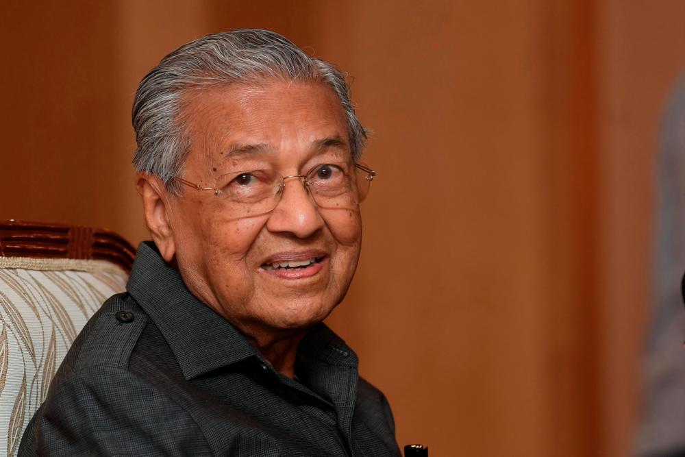 Founder of the Parti Pejuang Tanah Air (Pejuang) Tun Dr Mahathir Mohamad- Bernamapix