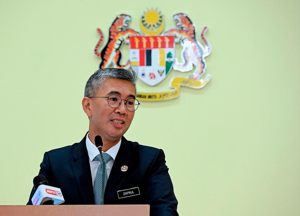 Finance Minister Tengku Datuk Seri Zafrul Tengku Abdul Aziz --fotoBERNAMA (2021) COPYRIGHTS RESERVED