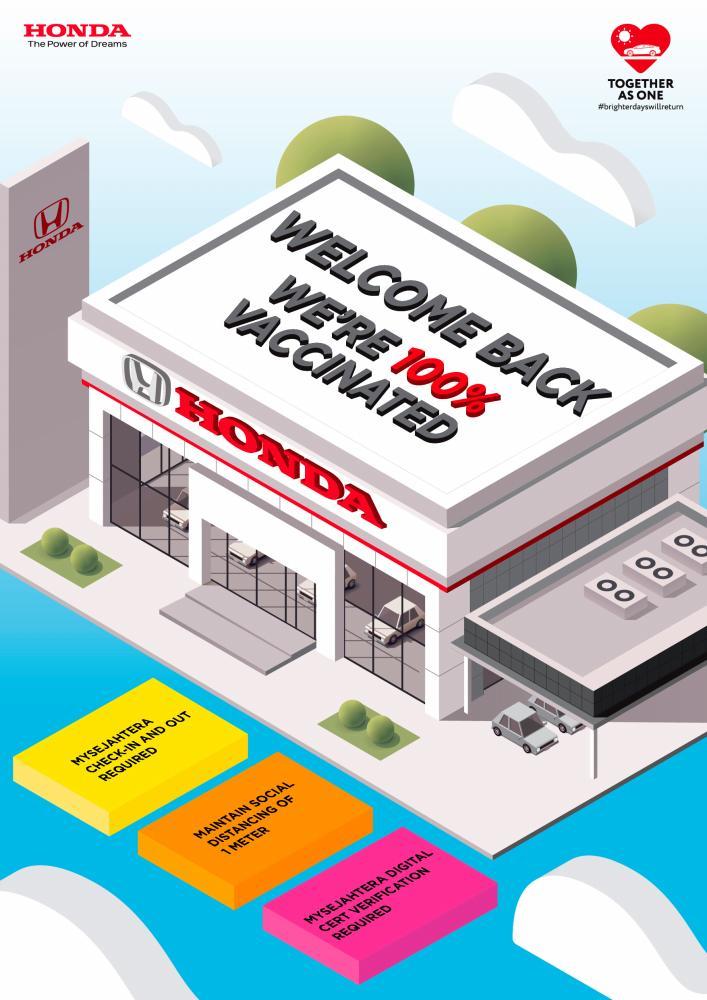 'I'm Vaccinated' campaign at Honda dealerships