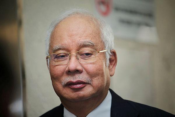 Former prime minister Datuk Seri Najib Abdul Razak at the Kuala Lumpur Courts Complex today. — BBXpress