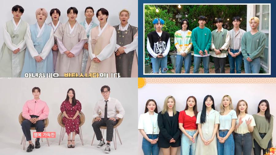 South Korean celebrities wish fans a happy Chuseok