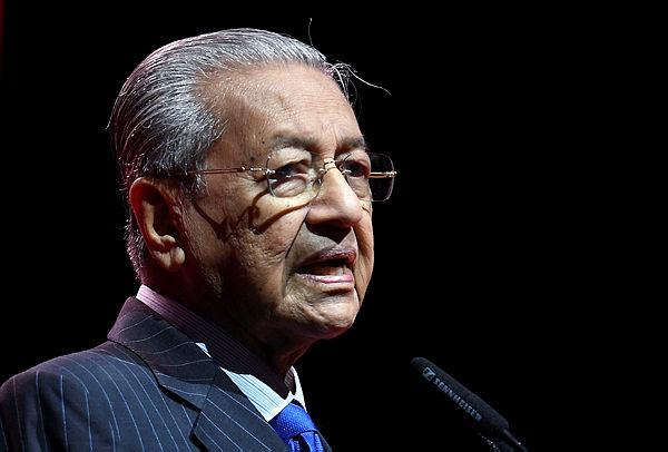 Prime Minister Tun Dr Mahathir Mohamad at the launching ceremony National Entrepreneurship Policy 2030 today in Kuala Lumpur. — Bernama