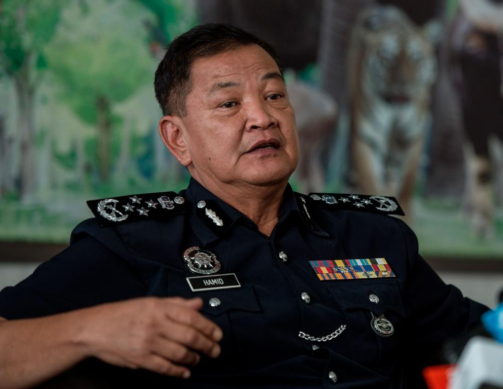 Inspector-General of Police Tan Sri Abdul Hamid Bador in a press conference in Bukit Aman on Oct 30, 2019. — Bernama