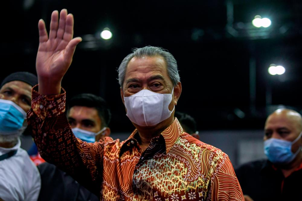 Prime Minister Tan Sri Muhyiddin Yassin attends the Kongres Negara themed 'United for Malaysia' at the Malaysia International Trade and Exhibition Center (MITEC) today. - Bernama