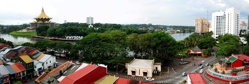 Aerial view of Kuching. — Pix courtesy of Art Shea