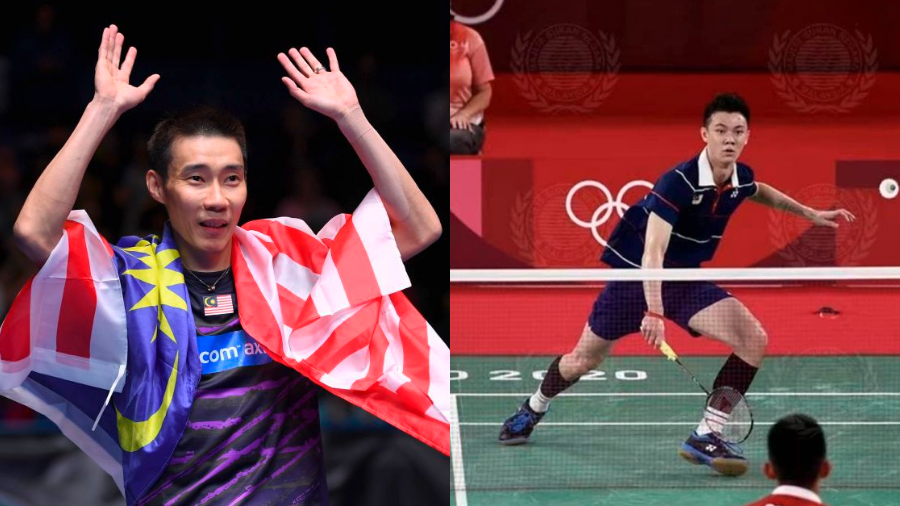 Lee Chong Wei gives humorous words of encouragement to Lee Zii Jia