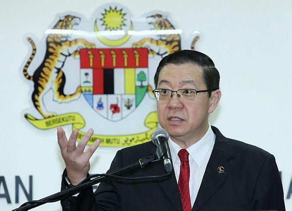 Finance Minister Lim Guan Eng. — BBXpress