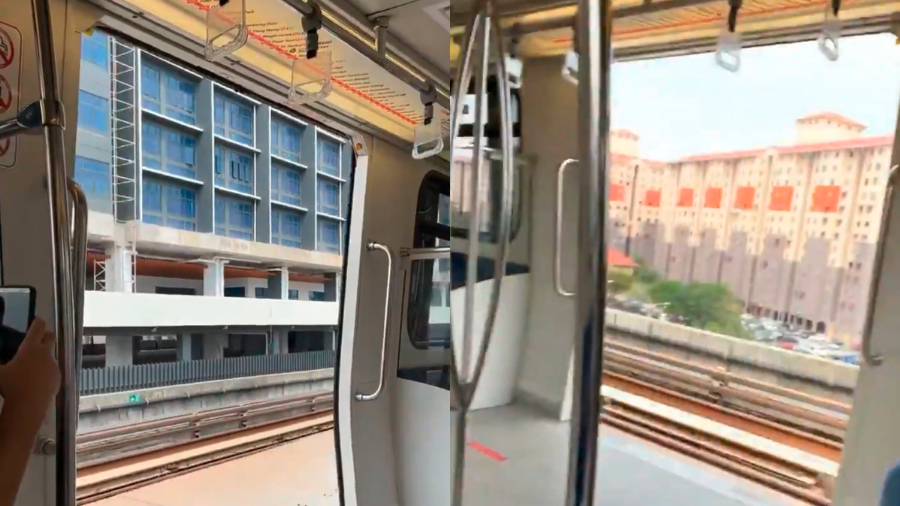 Viral video shows LRT moving with doors open while passing Ara Damansara