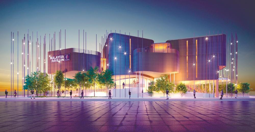 Malaysia's net-zero carbon pavilion with the theme 'Energising Sustainability' at Expo 2020 Dubai