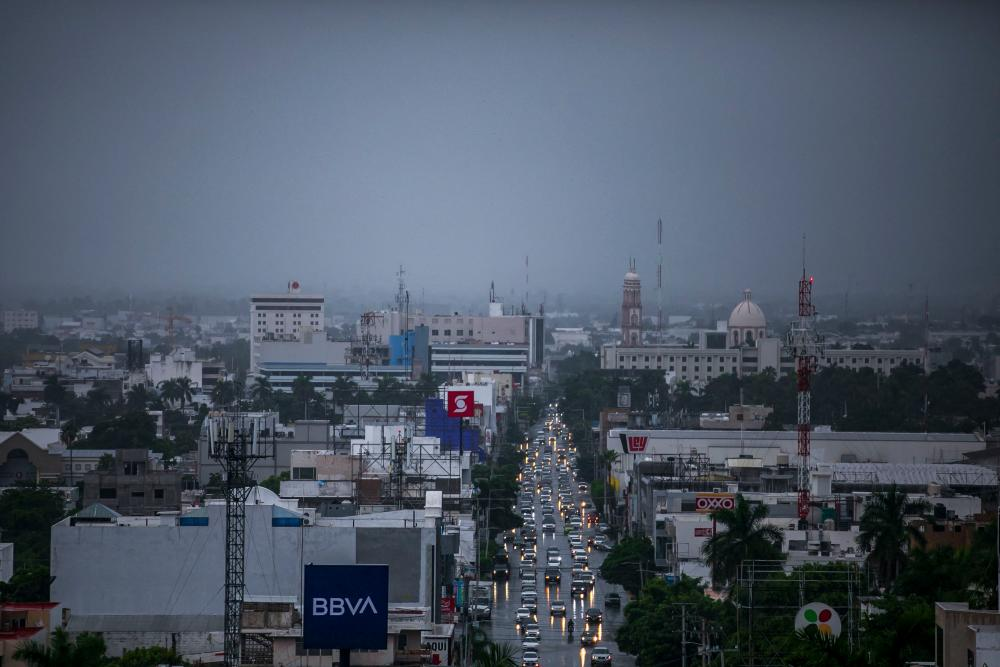 View of Culiacan, state of Sinaloa, Mexico, before the arrival of Tropical Storm Pamela, on October 12, 2021. AFPpix
