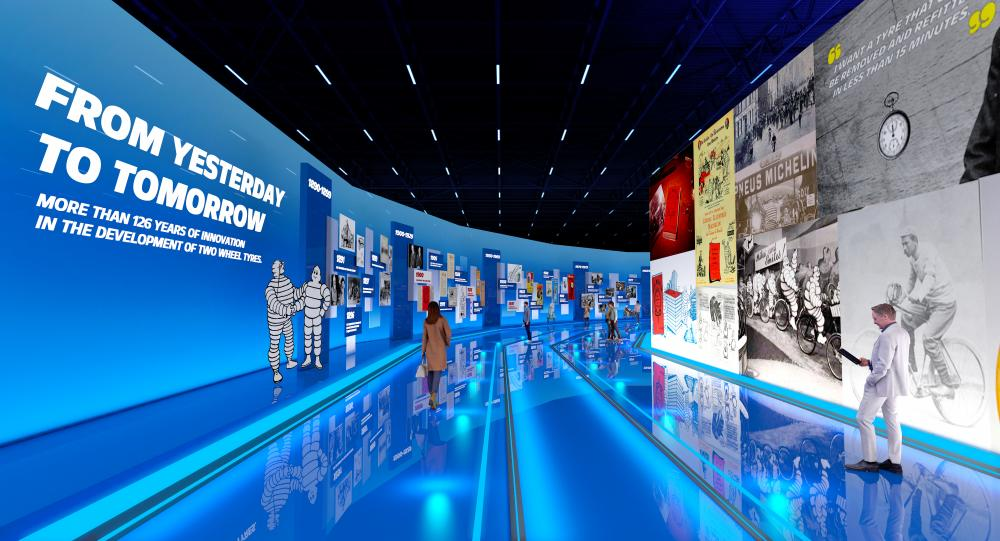 Explore Michelin motorcycle tyre virtual exhibition