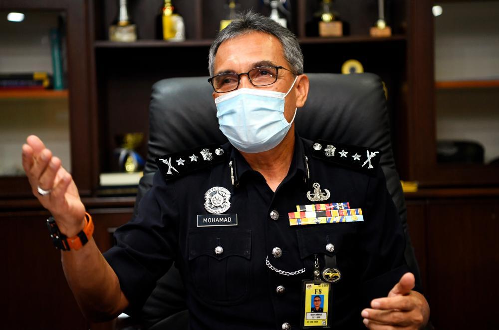 Negeri Sembilan police chief, Datuk Mohamad Mat Yusop. BERNAMApix
