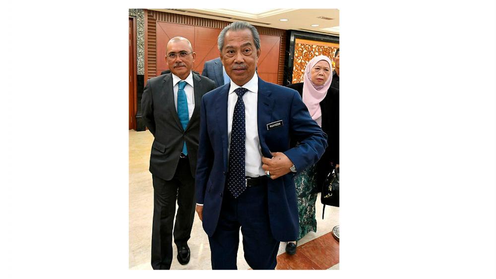Home Minister Tan Sri Muhyiddin Yassin, at the Dewan Rakyat, on July 9, 2019. — Bernama