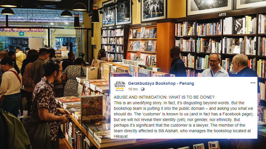 Penang bookshop takes to Facebook to seek public advice on handling an abusive customer
