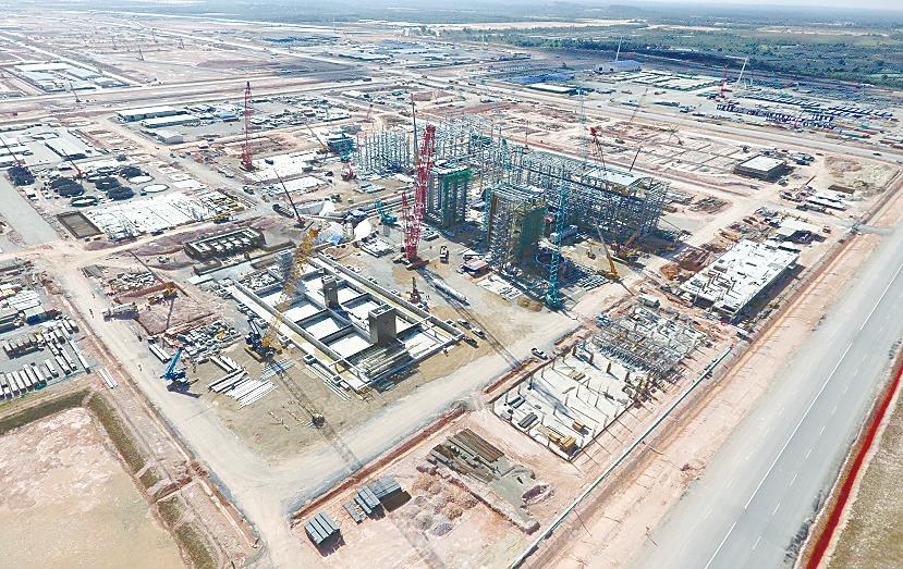 Aerial view of the Pengerang Co-generation Plant, which is one of the six associated facilities to be developed within Petronas' PIC. – PIC.PETRONAS WEBSITE