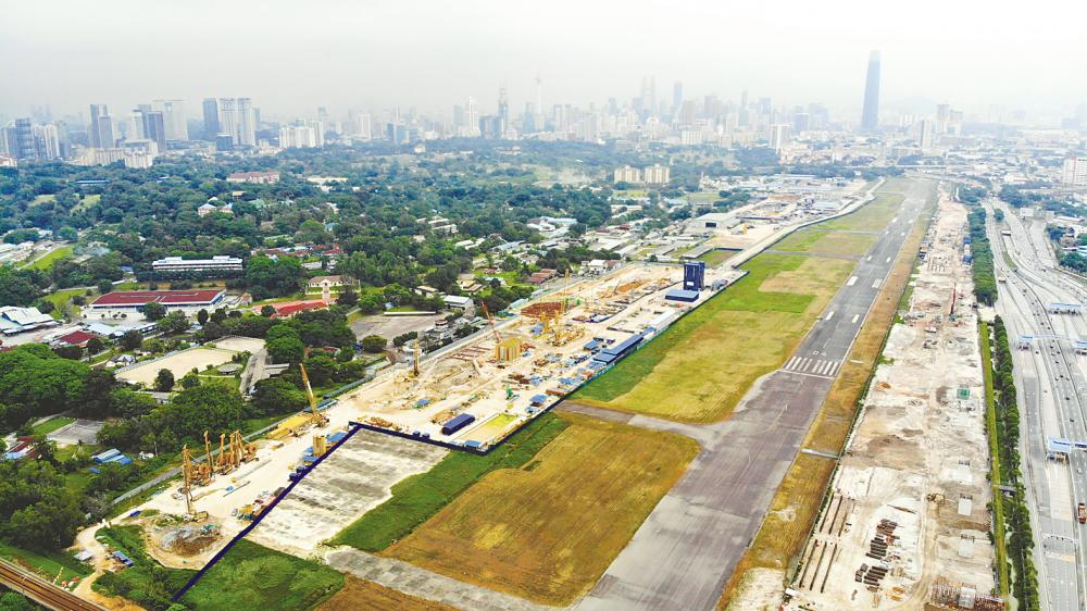 A view of the site of the 197ha Bandar Malaysia project on April 20, BERNAMAPIX