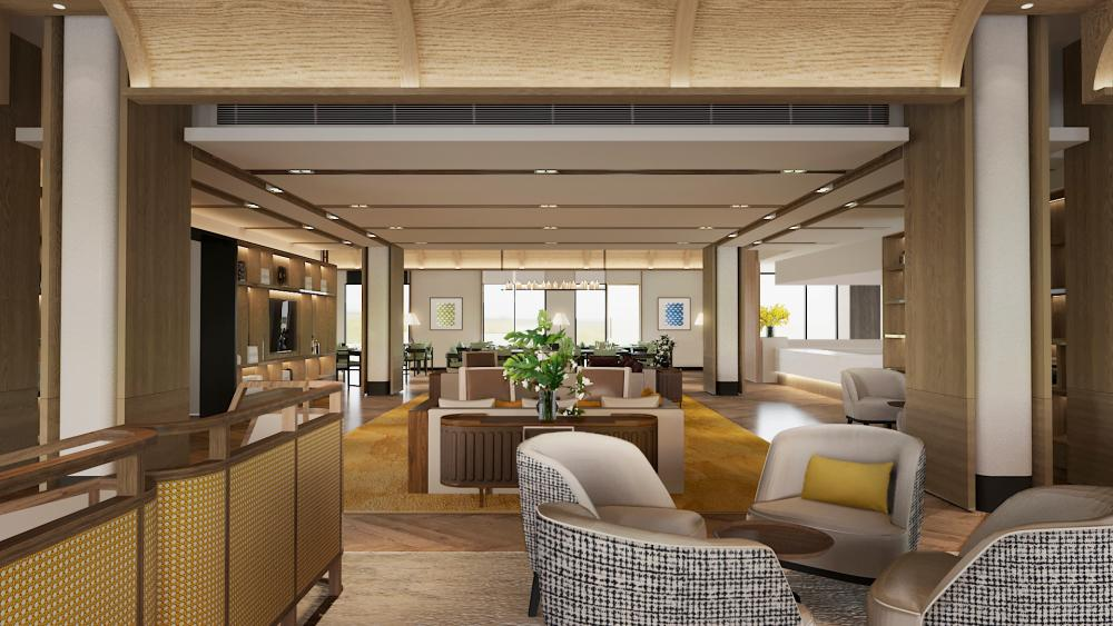 Artist's impression of the clubhouse in ReU Living for residents to socialise and participate in catered daily programmes.