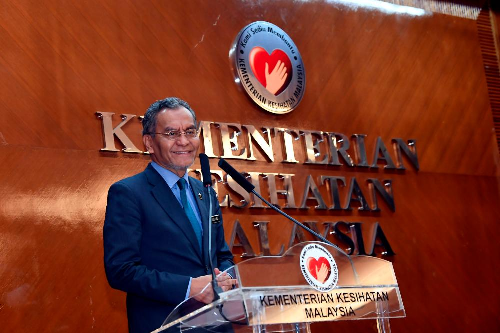 Health Minister Datuk Dr Dzulkefly Ahmad gives a press conference after attending the Health Ministry Innovation Day at the Health Ministry today. - Bernama