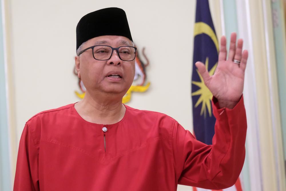 Senior Minister (Security Cluster) Datuk Seri Ismail Sabri Yaakob at a press conference on the RMCO at Perdana Putra today. - Bernama