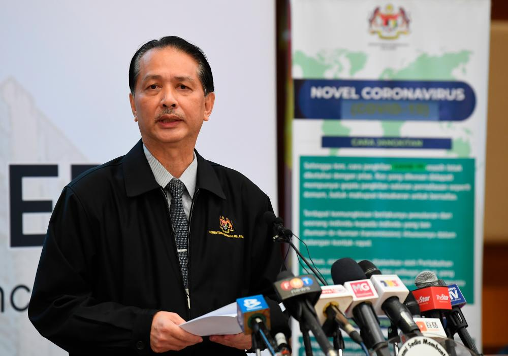Health Ministry director-general Datuk Dr Noor Hisham Abdullah during the daily press conference on Covid-19 infections at the Ministry of Health today. - Bernama